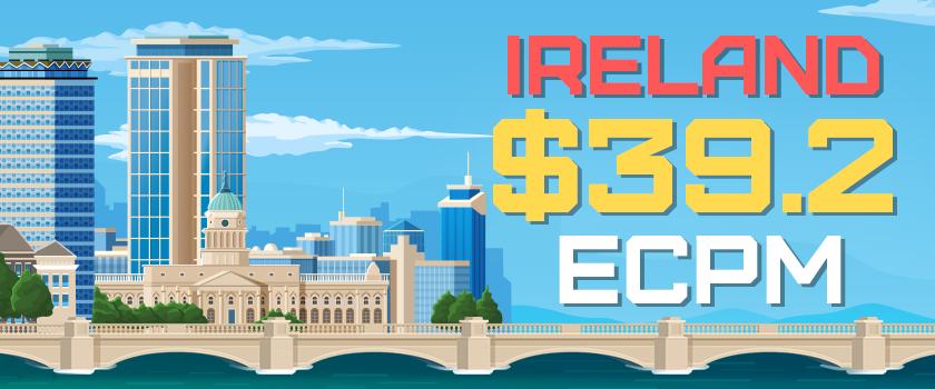 ireland - best ECPM - 39.2